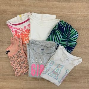 Set Of 6 Beautiful shirt for Girls Size M - 8